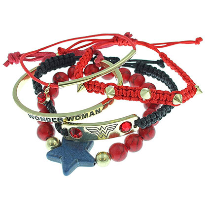 Wonder Woman Party Bracelet Set