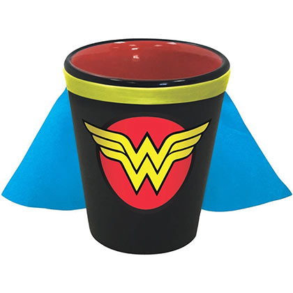 Wonder Woman Multi-Colored Caped Shot Glass