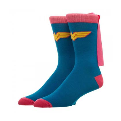 Wonder Woman Women's Blue Caped Socks