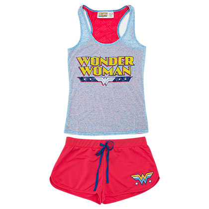 Wonder Woman Women's Burnout Underwear Set