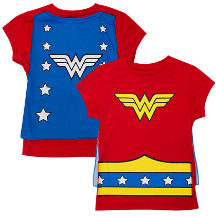 Wonder Woman Youth Caped Costume T-Shirt