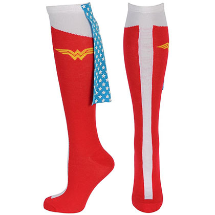 DC Comics Wonder Woman Red Knee High Cape Socks