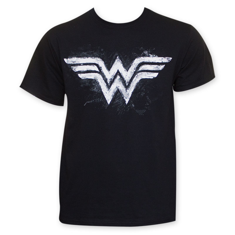 7b84e686b item was added to your cart. Item. Price. Wonder Woman Black Mens  Chalkboard Logo T-Shirt