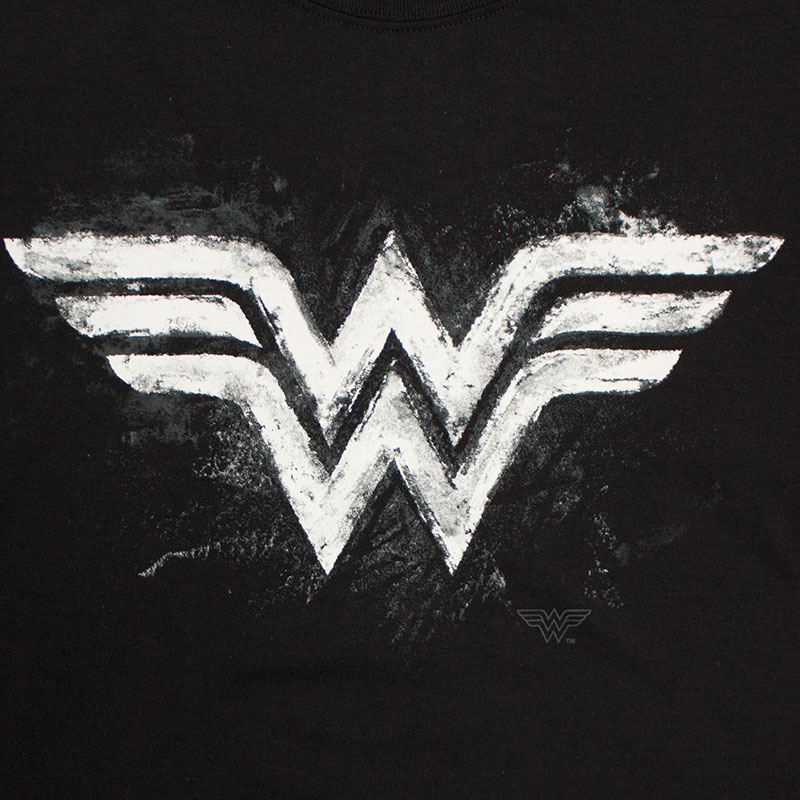 Wonder Woman Black Women's Chalkboard Logo T-Shirt ...