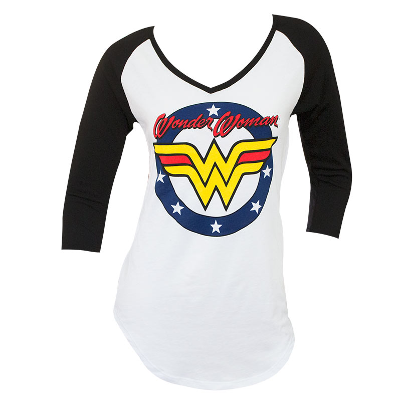 Wonder Woman V-Neck 3/4th Lenght Sleeve Women's Shirt