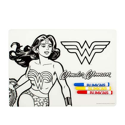 Wonder Woman Silicone Children's Coloring Placemat