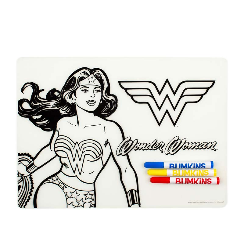 Wonder Woman Children's Silicone Coloring Mat