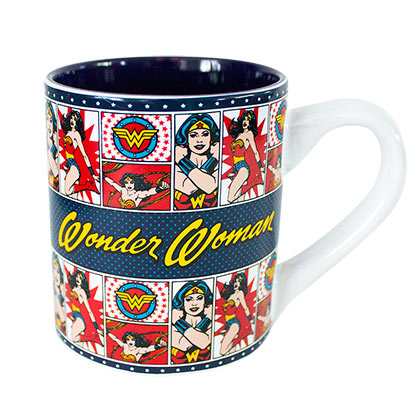Wonder Woman 14 Ounce Classic Comic Panels Mug