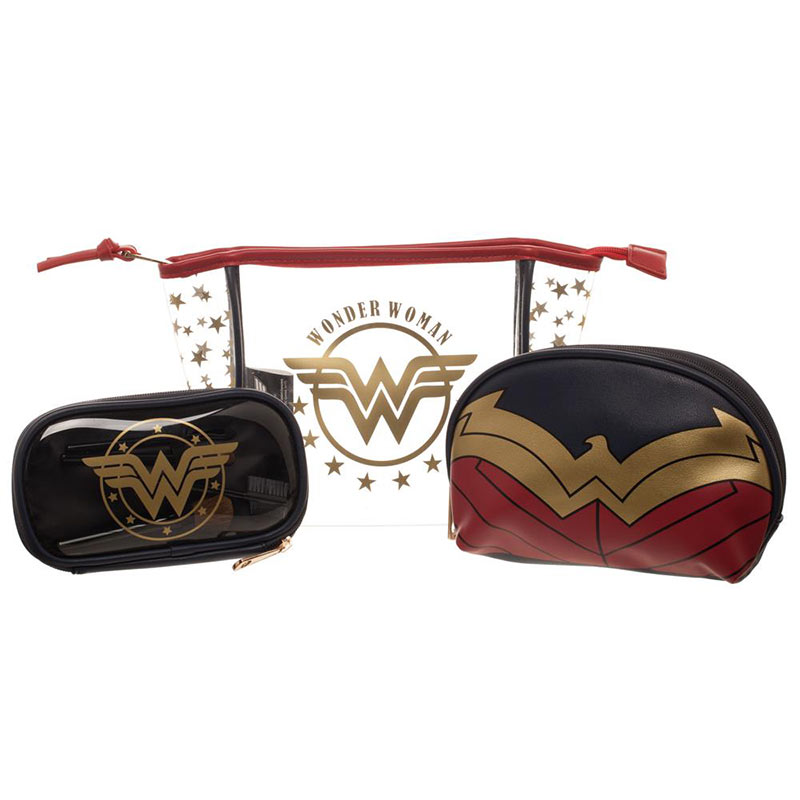 Wonder Woman 3 Piece Cosmetic Set