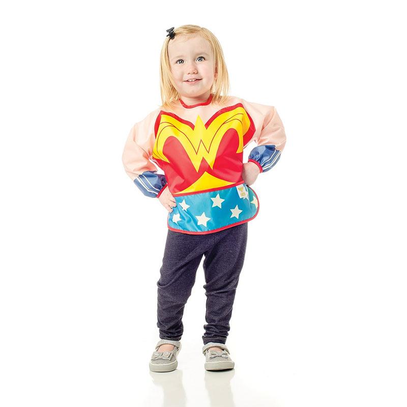 Wonder Woman Infant Costume Sleeved Bib Youth; Wonder ...  sc 1 st  SuperheroDen.com & Wonder Woman Blue Infant Costume Sleeved Bib | SuperheroDen.com