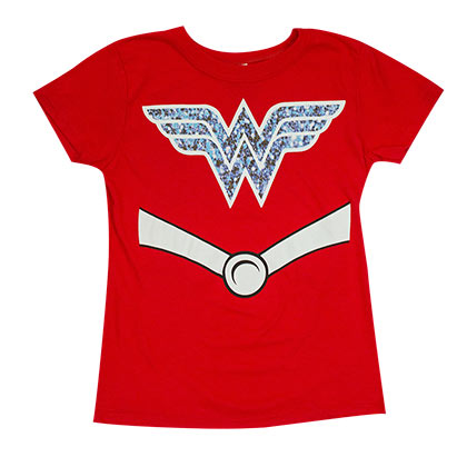 Wonder Woman Red Girls Youth Costume T-Shirt