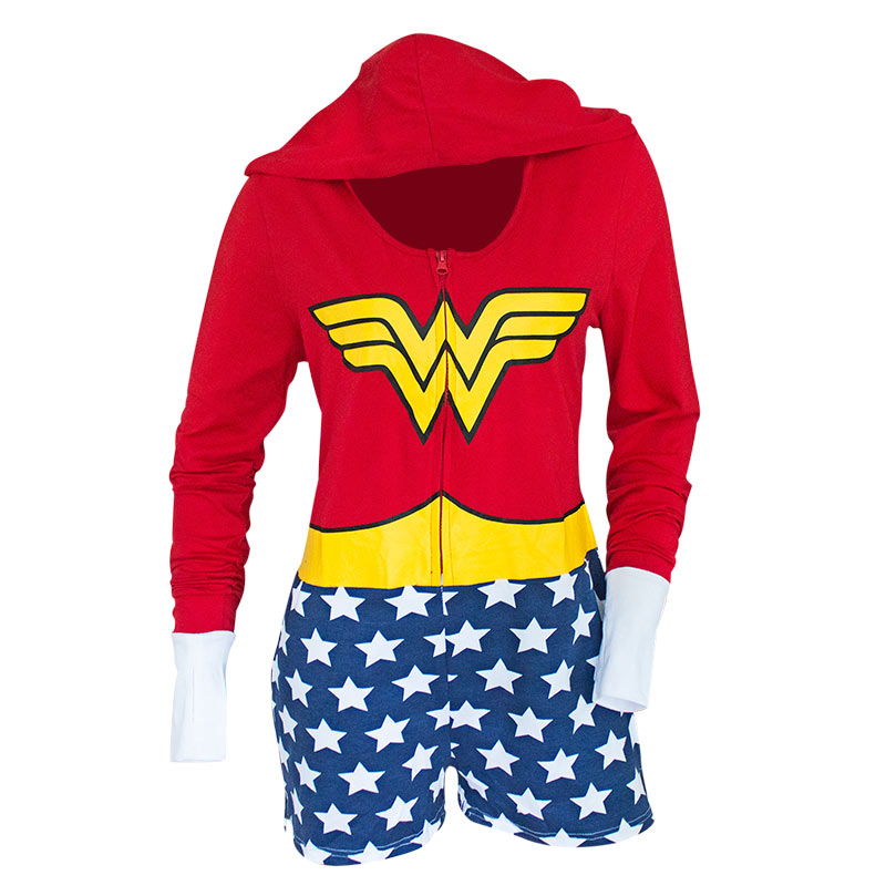 Wonder Woman Red & Blue Women's Cosplay Romper