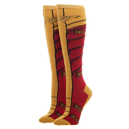 Wonder Woman Costume Boot Knee High Socks