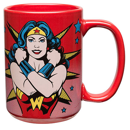 Wonder Woman Crossed Arms Red Coffee Mug