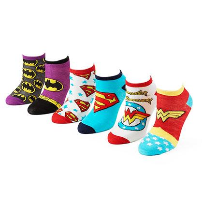 DC Comics 6 Pack Women's Ankle Socks