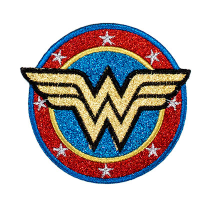 Wonder Woman Logo Glitter Patch