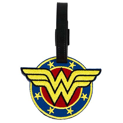 Wonder Woman Embroidered Logo Luggage Tag