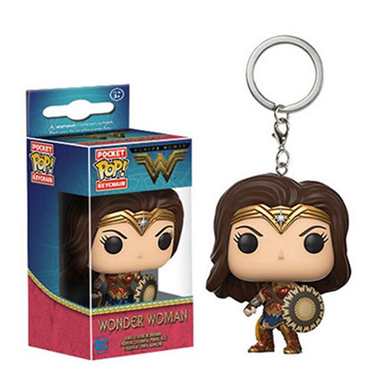 Wonder Woman Funko Pop Toy Keychain
