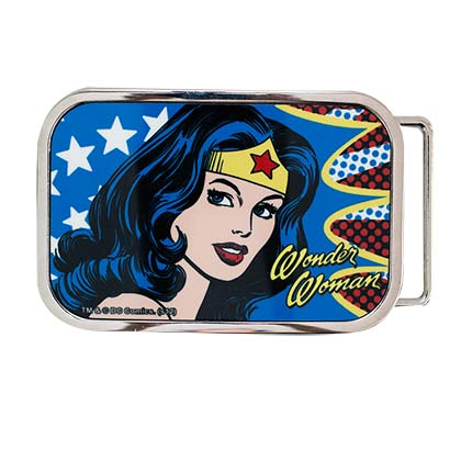 Wonder Woman Face Belt Buckle