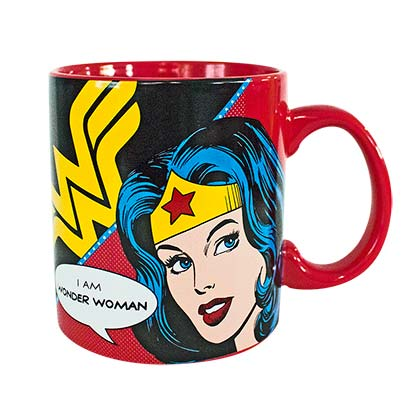 Wonder Woman DC Comics Red 20oz Coffee Mug
