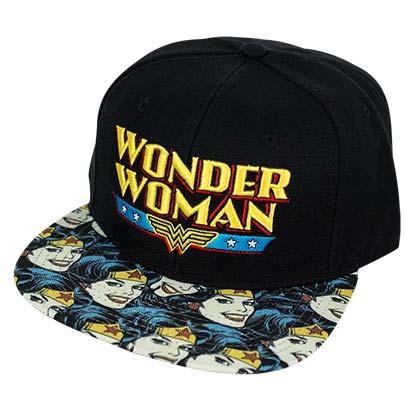 Wonder Woman Black Snapback Smiles Hat
