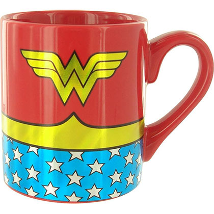 Wonder Woman Gold Foil Print Costume Mug