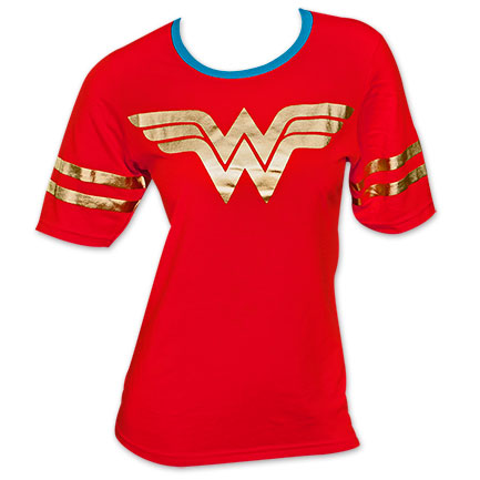 Wonder Woman Foil Print Women's Shirt