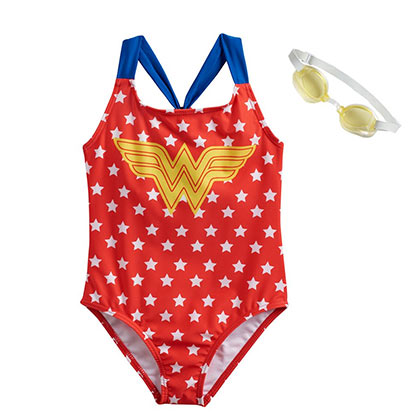 Wonder Woman Red Youth One-Piece Swimsuit