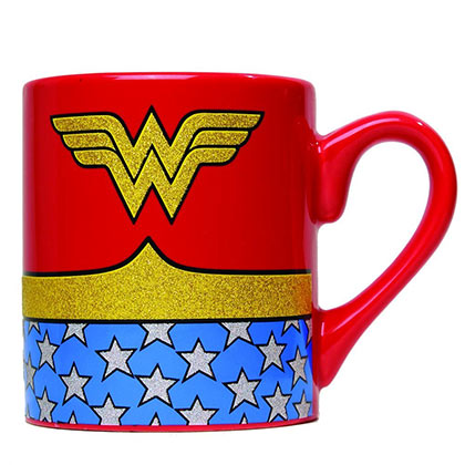 Wonder Woman Glitter Coffee Mug