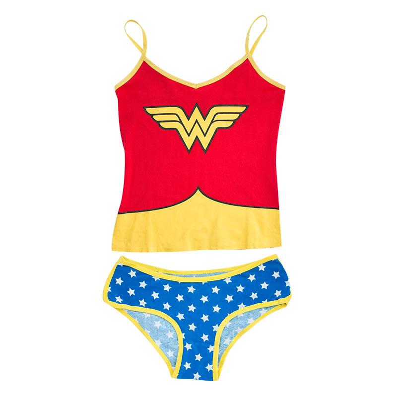 Wonder Woman Two-Piece Glow In The Dark Women's Cami Set