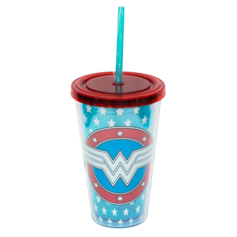 Wonder Woman Travel Glow In The Dark Plastic Cup