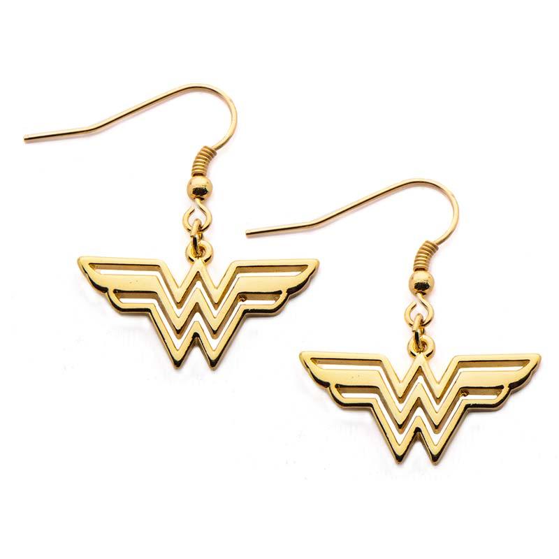 wonder woman logo earrings. Black Bedroom Furniture Sets. Home Design Ideas