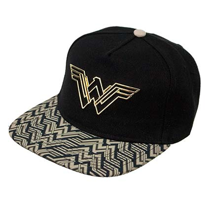 Wonder Woman Snapback Movie Logo Black Hat