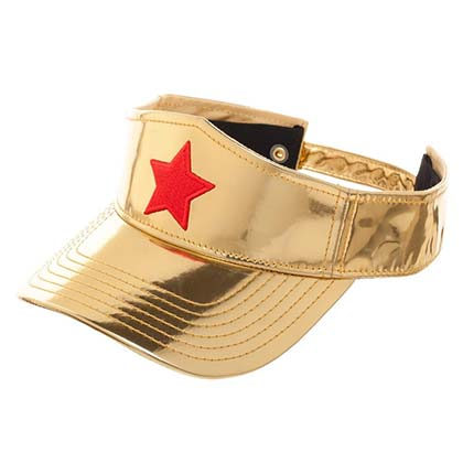 Wonder Woman Golden Visor Hat