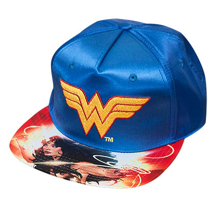 Wonder Woman Blue Satin Hat