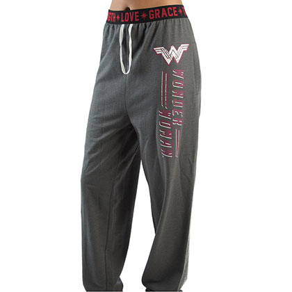 Wonder Woman Ladies Grey Jogger Sweatpants