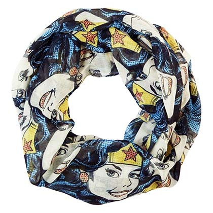 Wonder Woman Halftone Infinity Scarf