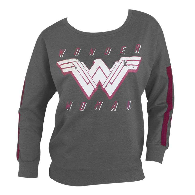 Wonder Woman Ladies Grey Jogger Top Sweatshirt