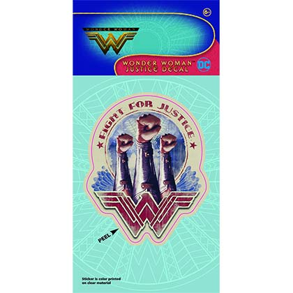 Wonder Woman Superhero Fight For Justice Decal
