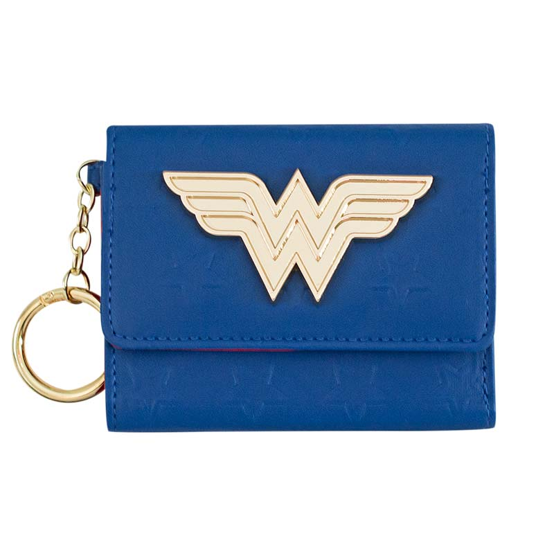 Wonder Woman Comic Mini Trifold Blue Wallet