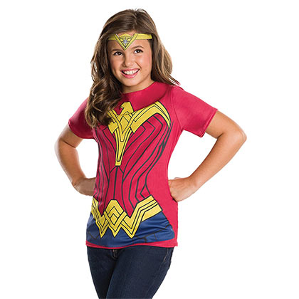 Wonder Woman Costume Youth T-Shirt With Crown
