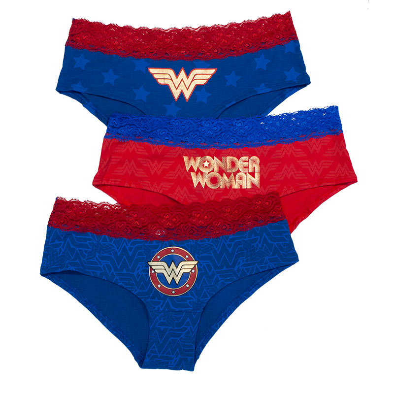 Wonder Woman Lace Underwear 3 Pack