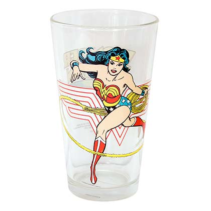Wonder Woman Comic Pint Glass