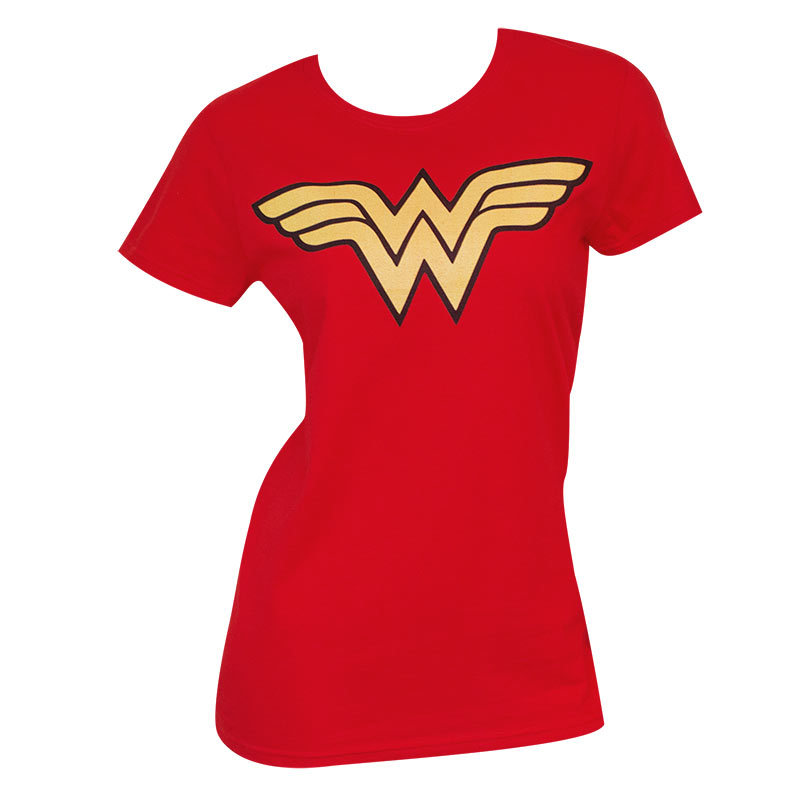 Women's Wonder Woman Logo Red Tee Shirt