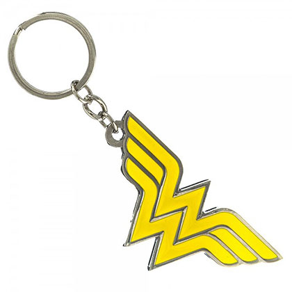 Wonder Woman Metal Yellow Keychain