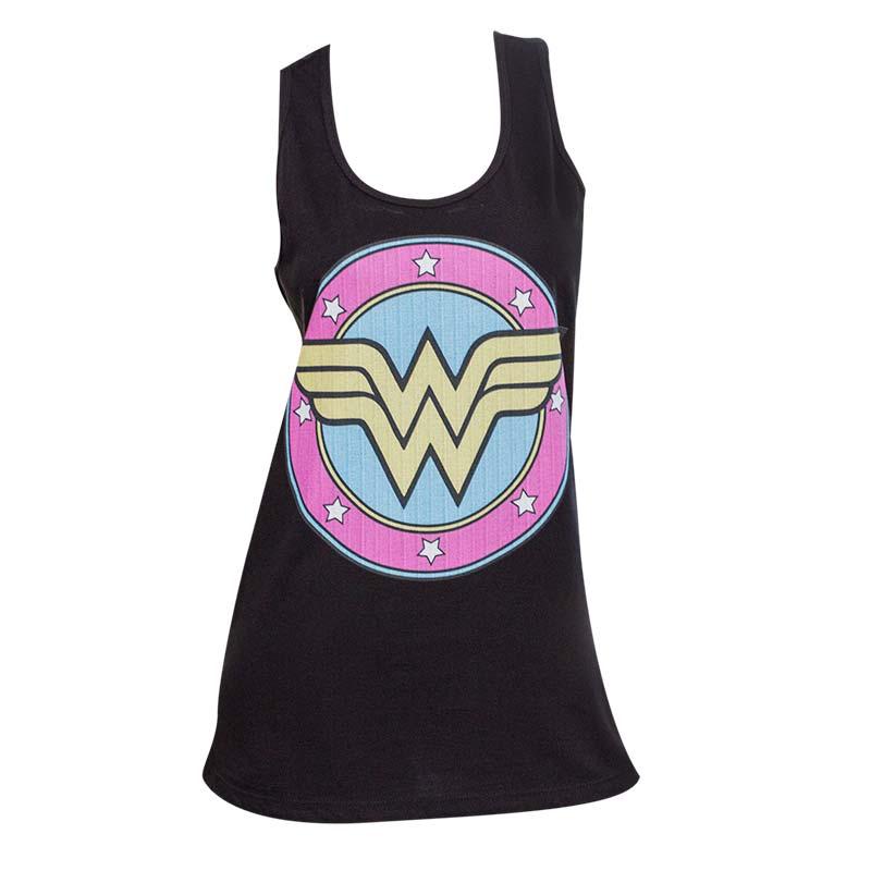 Wonder Women Logo Black Tank