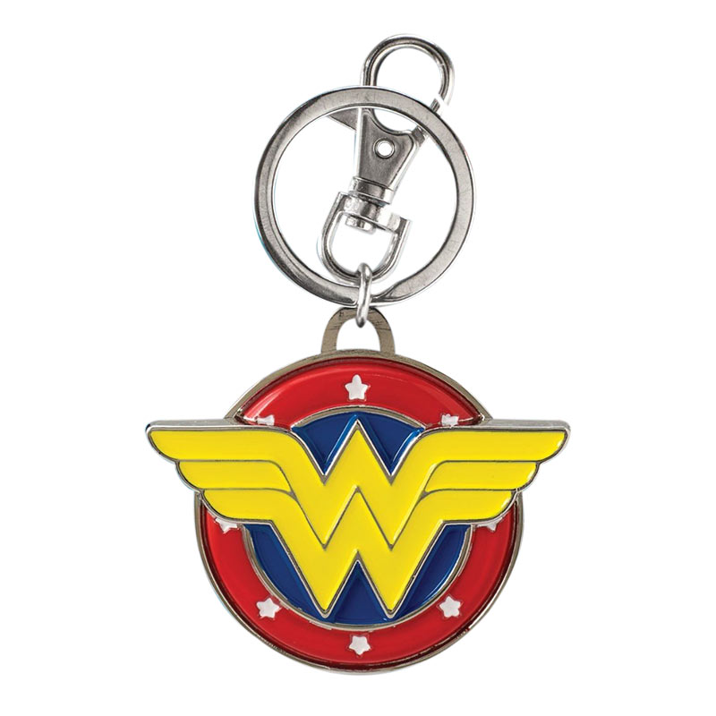 Wonder Women Comic Metal Color Logo Keychain