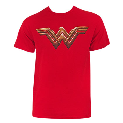 Justice League Men's Red Wonder Woman T-Shirt