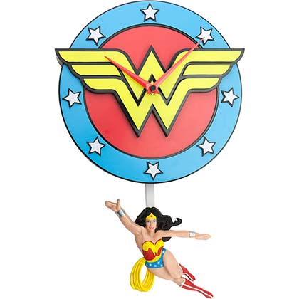 Wonder Woman Superhero Pendulum Clock