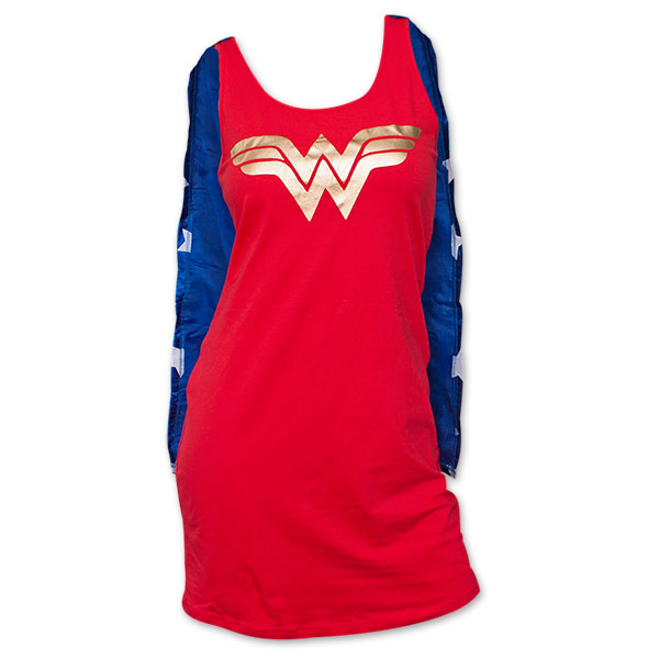 Wonder Woman Sleep Tank with Cape